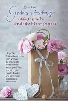 Faltkarte: Zum Geburtstag alles Gute und Gottes Segen