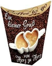 Coffee to go: Ein kleiner Gruß von Herz zu Herz