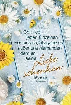 Faltkarte: Gott liebt jeden Einzelnen - Geburtstag