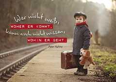 """Postkarten """"Wer nicht weiß"""", 12er-Serie"""