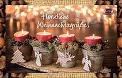 Kaffeekarte - Herzliche Weihnachtsgrüße!