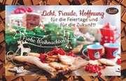 Schokokarte - Licht, Freude, Hoffnung für die Feiertage...