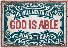 Metallschild klein - God is able