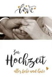 """Faltkarte """"Love"""" - Hochzeit"""