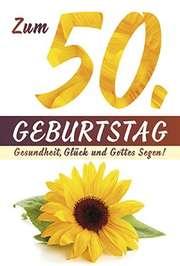 Faltkarte: Zum 50. Geburtstag