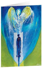 Farbengel I - Kunst-Faltkarten ohne Text (5 Stück)