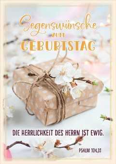 """Postkartenserie """"Segenswünsche zum Geburtstag"""" - 10 Stück"""