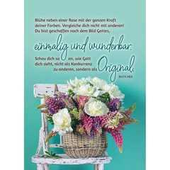 Postkarten: Blühe neben einer Rose, 4 Stück