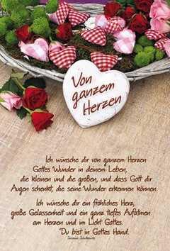 Faltkarte Von Ganzem Herzen Geburtstag Susanne Schutkowski
