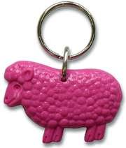 Schlüsselanhänger Schaf - pink