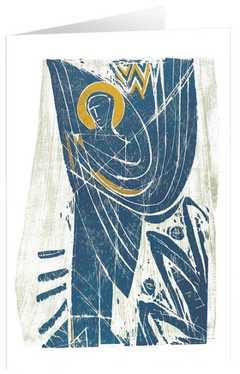 """Kunstkarten """"Blauer Bote"""" - 5 St."""
