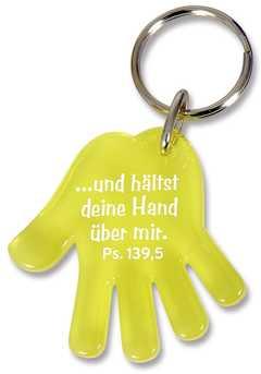 """Schlüsselanhänger """"Hand"""" - gelb"""